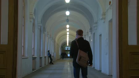 The corridor of the institute