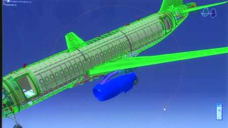 planos : 3D airplane model Stock Footage