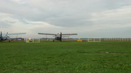авиация : The AN-2 aircraft on the airfield
