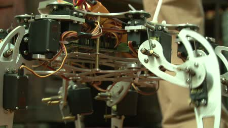 kol : Spider robot Stok Video