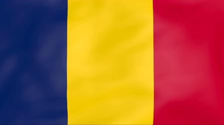чад : Developing the flag of Chad Стоковые видеозаписи