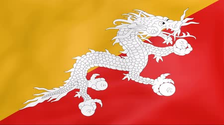 bhutan : Developing the flag of Bhutan