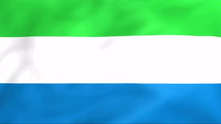 sierra leone flag : Developing the flag of Sierra Leone Stock Footage