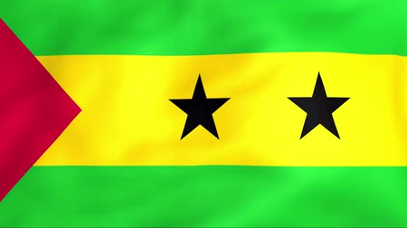 tome : Developing the flag of Sao Tome and Principe Stock Footage