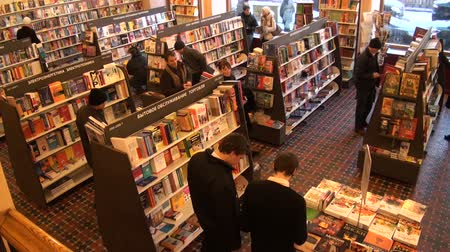 raf : book shop Stok Video