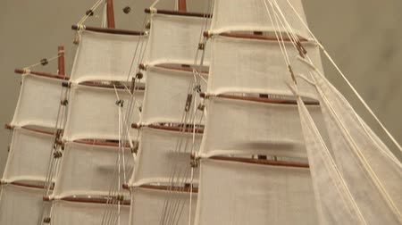 collectable : Model sailing ship Stock Footage