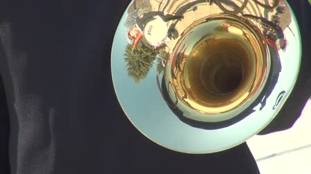 trombeta : The trumpet in a brass band Stock Footage