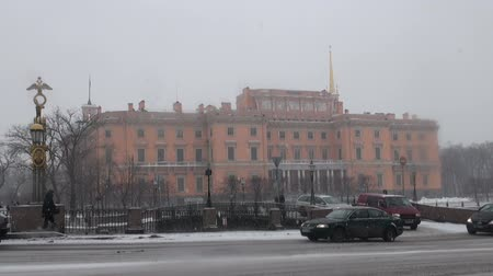 europeu : The Mikhailovsky castle in St. Petersburg