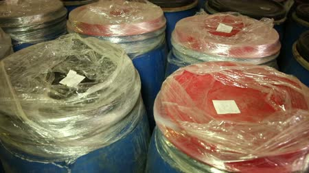 polymers : Drums in the warehouse.