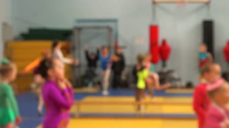 гибкость : Training girls gymnastics