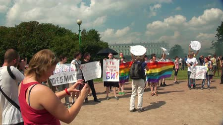 otwarcie : The gay parade and rally sexual minorities