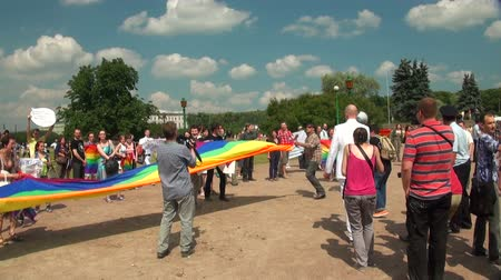 orgullo gay : Las gays parade y rally sexual minorities