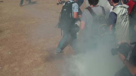 восстание : Smoke bomb at the rally