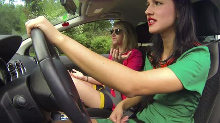 inside car : The girl driving the car