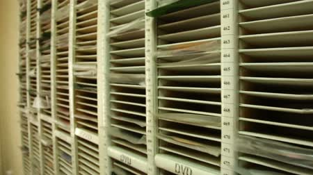 cover : Shelf with DVD Stock Footage