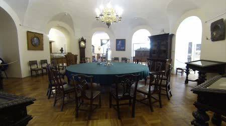 exclusivo : Round table for meetings. Kunstkamera. Saint-Petersburg. Museum of anthropology and Ethnography.  Stock Footage