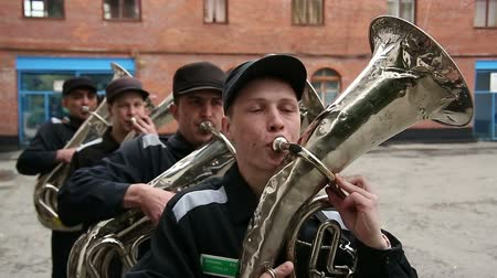 deprivation : Brass band of their prisoners and convicts in prison