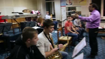 playing band : Conductor and orchestra Rehearsal
