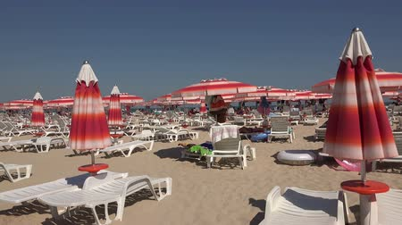 bulgary : The beach in Albena. Resort Spa in Bulgaria. Shot in 4K (ultra-high definition (UHD)), so you can easily crop, rotate and zoom, without losing quality!  Real time. Stock Footage