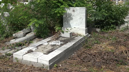 temető : Destroyed the graves at the Jewish cemetery. Varna. Bulgaria.