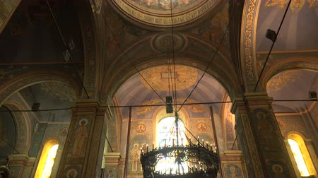 freska : The Cathedral of the Assumption in Varna, Bulgaria. The interiors of the temple.