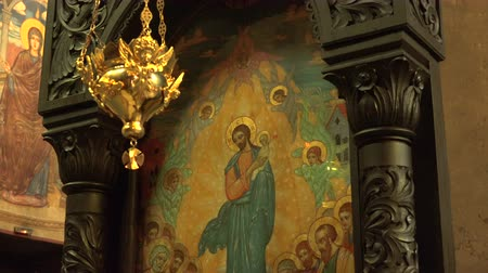 freska : The Cathedral of the Assumption in Varna, Bulgaria. The interiors of the temple.  Dostupné videozáznamy