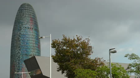 Torre Agbar in Barcelona. Spain.
