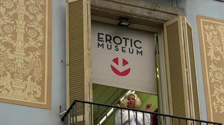 Erotic museum in Barcelona. Spain. Stock mozgókép