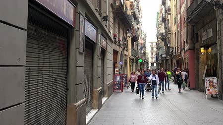 Old street in Barcelona. Spain.