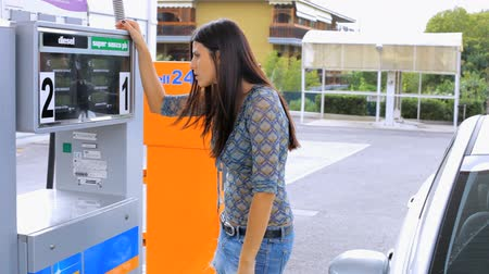 benzin : Beautiful woman angry about price of gas