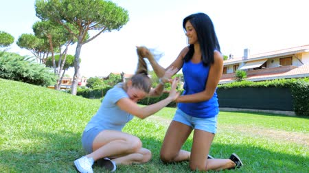 kavga : Cat fight between two young women angry