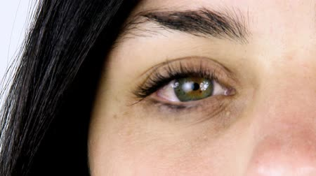 longo : Closeup of beautiful green eye of young woman