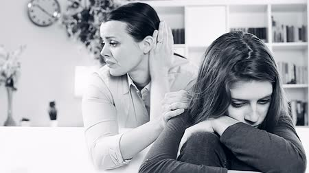parenthood : Unhappy mother feeling sad for daughter