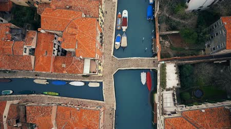 rivera : Canals and buildings in Venice shot with drone