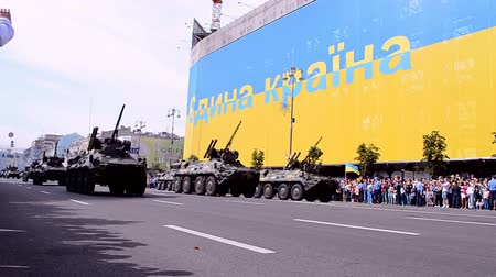 egemenlik : KIEV - AUG 24: Military parade devoted to the annual Independence Day of Ukraine on August 24, 2014 in Kiev, Ukraine.