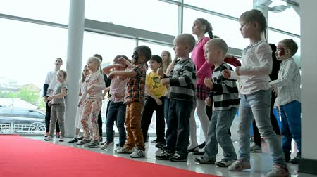 soft tip : kids dancing during NIKO Junior Fest 2014 devoted to International Childrens day. Event organized by VAB leasing, NIKO-Ukraine (official dealer of Mitsubishi Motors in Kiev region).