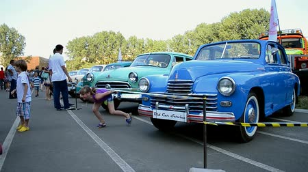 motorcar : Old Car Fest 2014 on August 02, 2014 in Kiev, Ukraine. Festival with retro cars issued before 1984 take place on August 02-03, 2014.