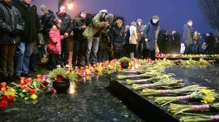 famished : candles during Starvation (Holodomor) anniversary marks in Kiev, Ukraine on November 23, 2013. Holodomor - Josef Stalin-ordered famine that killed millions of Ukrainians in 1932-33.