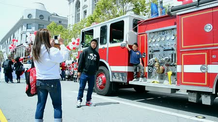 voyager : Cherry Blossom Festival on April 19 2015 in San Francisco USA. 1st Cherry Blossom Festival take place in April 1967.