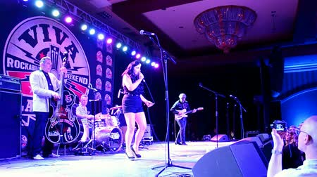 подиум : Viva Las Vegas Rockabilly Weekend 2016 on April 14, 2016 in Las Vegas, USA. Viva Las Vegas Rockabilly Weekend take place on April 14-17, 2016.