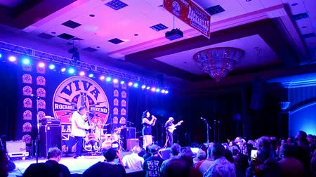 mikrofon : Viva Las Vegas Rockabilly Weekend 2016 on April 14, 2016 in Las Vegas, USA. Viva Las Vegas Rockabilly Weekend take place on April 14-17, 2016.