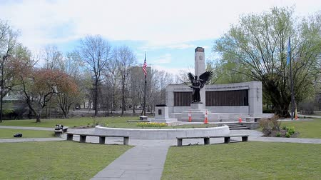druhé světové války : World War II Memorial in Bostons Back Bay Fens on April 25, 2016 in Boston, USA.