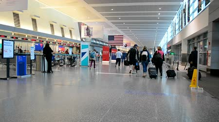 voyager : BOSTON - APR 26: Boston Logan International Airport on April 26,2016 in Boston, Massachusetts, USA. Airport has 102 gate positions total divided among 4 terminals. It was open on September 08,1923.