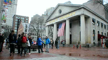 voyager : Quincy Market is historic market complex in downtown Boston, MA.It was build in 1824-1826 and named in honor of Mayor Josiah Quincy. Market covers 27,000 sq.feet(2500m2) of land.