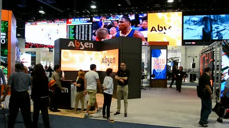 yayın : LAS VEGAS, NV - APR 19: NAB Show 2016 exhibition on April 19, 2016 in Las Vegas, USA. Event take place during April 11-16.