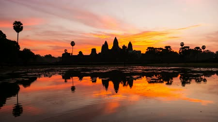 tourism : Timelapse of Angkor Wat at Sunrise