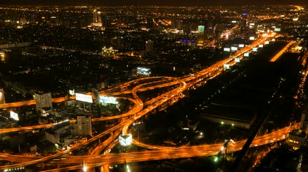 hızlanma : Timelapse - Highway from above Stok Video