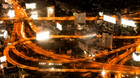 high speed road : Timelapse - Highway from above Stock Footage