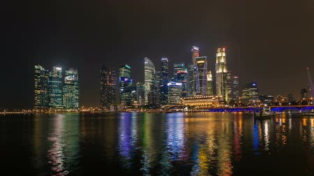 набережная : Timelapse - Singapore Marina Bay City Skyline
