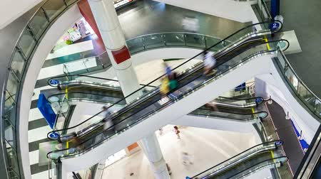 lapse : Shopping mall Timelapse Stock Footage